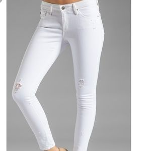 AG Adriano Goldschmied White The Legging Ankle 28